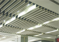Suspended Decorating Linear Metal Ceiling False for office building , ISO