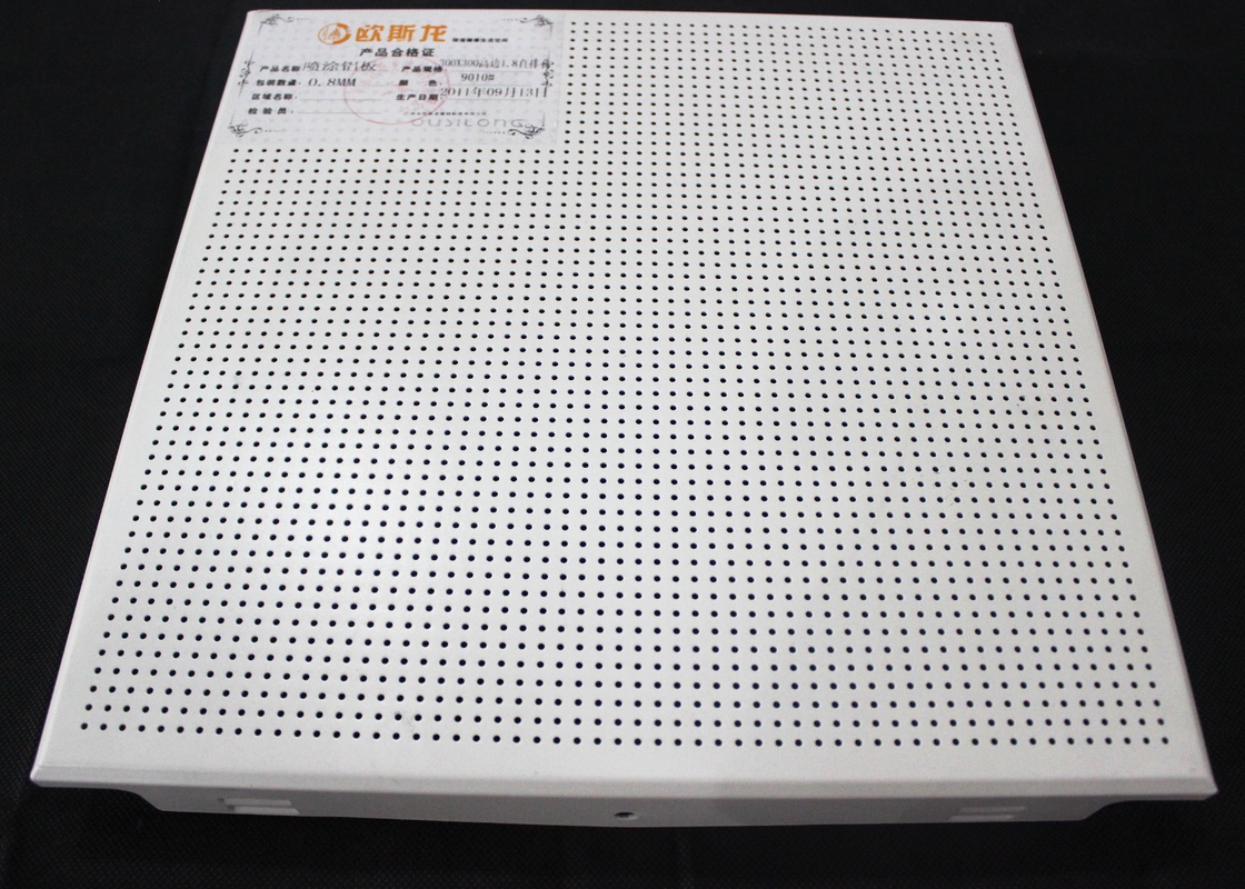 Zero Clearance Commercial Ceiling Tiles / Perforated Acoustic Panel Tegular